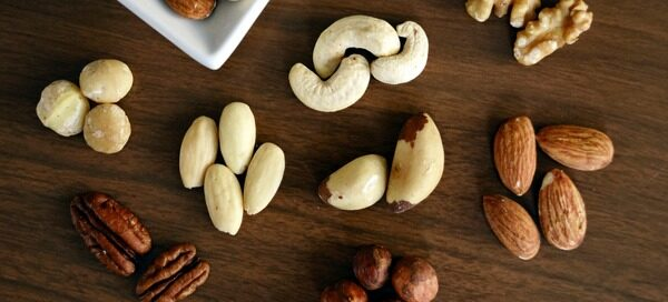 Nuts on a table